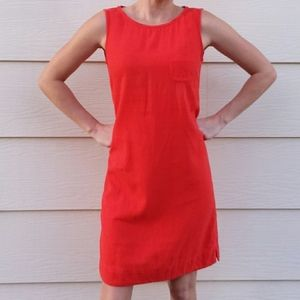 M&S Collection Orange Sleveless Linen Dress